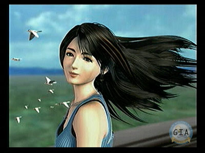 rinoa wallpapers. Grr. Hair blowing in the wind, she looks over and smiles.